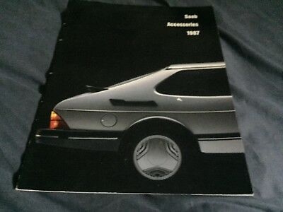 1987 Saab 900 900S and Turbo Accessories USA Market Color Brochure Prospekt