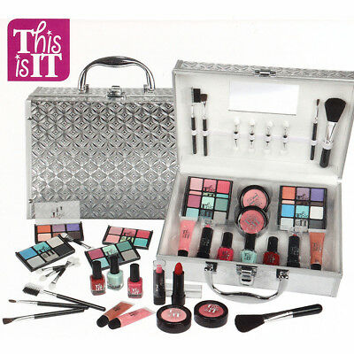 41in1 Pro Eyeshadow Makeup Kit Large Box Beauty Cosmetic Girls Travel Case Set