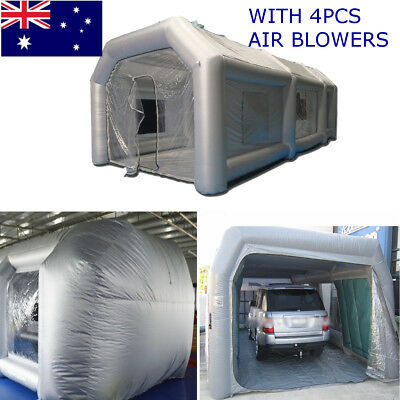 Custom Made Portable Oxford Cloth Inflatable Spray Booth Paint Ten Set 10*5*3.5m