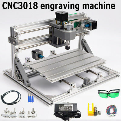 15in1 DIY Laser CNC Router 3018 GRBL Engraving Machine Working Area PCB Milling