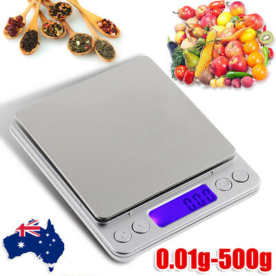 AU 0.01/500g Kitchen Digital Scale LCD Electronic Balance Food Weight Scales