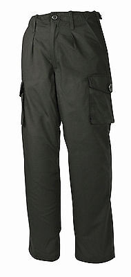 """Security Ripstop Police Combat Black Trousers Size 34"""""""