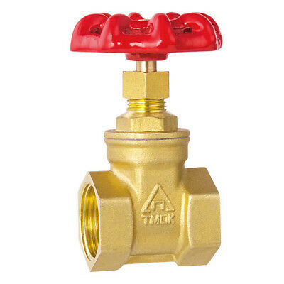 Brass Gate Valve Stop Tap 15/20/22 mm Female National Pipe Taper (NPT) Threads