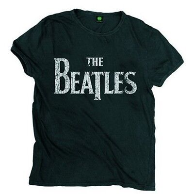 Small Adult's The Beatles T-shirt - Official Distressed Logo Shirt Sxxl