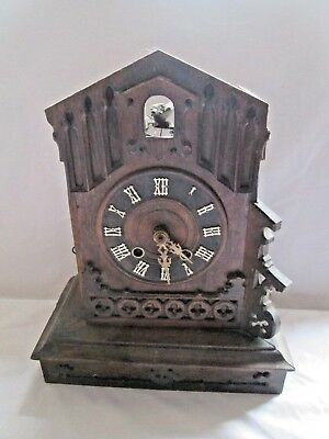 Antique OLD CUCKOO BLACK FOREST ? WALL / mantle CLOCK  ,SPARES / REPAIR PROJECT