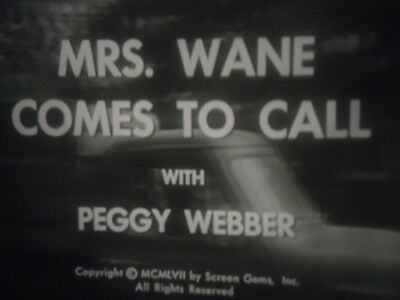 16mm    Mrs Wane Comes to Town Phyllis Kirk Arthur Franz