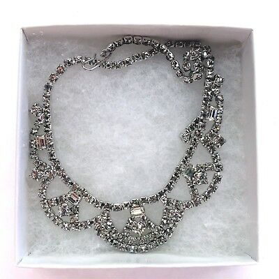 "15"" Vintage Rhinestone Necklacetons Of Sparkle #4"