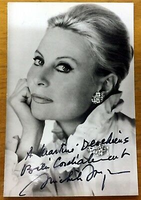 Autograph Michele Morgan #1 French Actrss Extrordinaire With Letter