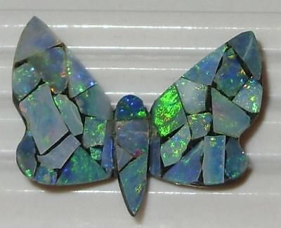 5.80ct Australia Opal Mosaic Doublet Butterfly WoW *$1NR*