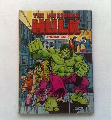The Hulk Annual 1978 Marvel 'origin Of The Hulk' Stan Lee Jack Kirby N/fine Cond