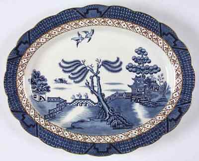 "Booths REAL OLD WILLOW BLUE 12 1/4"" Oval Serving Platter 38707"