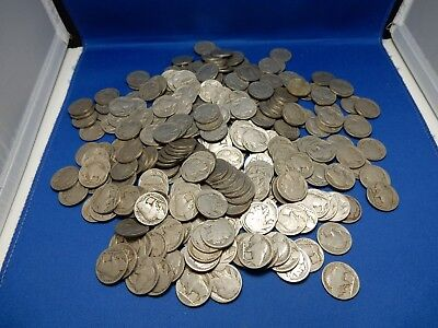 Lot of 270 No Date Buffalo Nickels