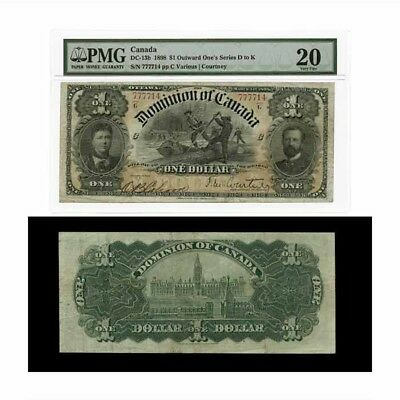 Dominion of Canada Outward One's Series D to K Courtney- $1 1898 DC13b PMG Very