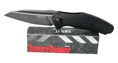 Kershaw Natrix Knife Black G-10 Handle Black Stonewash Plain Edge 7007BLKBW