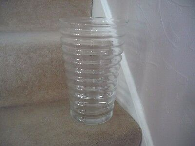 A Large Beautiful Ripple Designed Glass Vase An Outstanding Vase