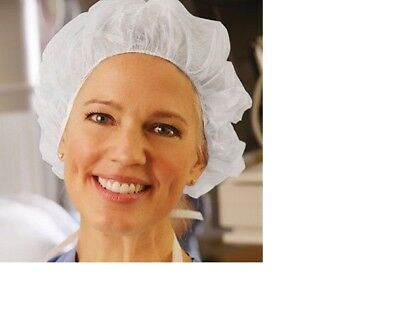 "Bouffant Cap Disposable Hat Hair Net -Woman Duty Chef Nurse,100 PCS 21"" White"