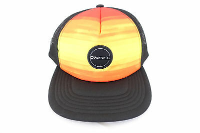 93fee5e7cf8 Oneill Foam Orange Black Snap Back Steller Trucker Cap Hat Mens Nwt New