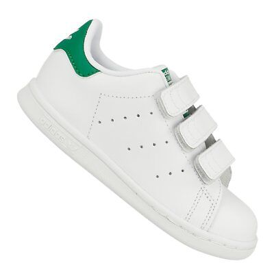 detailed pictures 21beb db108 Adidas Originals Scarpe Sportive Bambino Stan Smith Cf Ho M20609 Bianco  Verde
