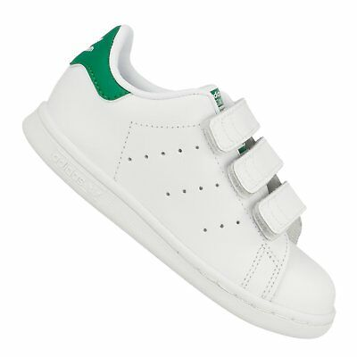 detailed pictures 9b7b1 09735 Adidas Originals Scarpe Sportive Bambino Stan Smith Cf Ho M20609 Bianco  Verde