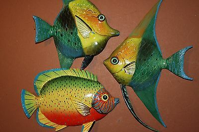 (3), Oceanside Restaurant Decor, Tropical Fish Wall Decor, Coral Reef, Sea Life