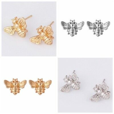 Fashion Alloy Lovely Retro Bee Insect Post Stud Earrings Animal Accessories