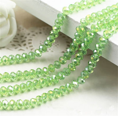 Jewelry Faceted 70pcs #5040 6x8mm Rondelle glass Crystal Flat Beads #185