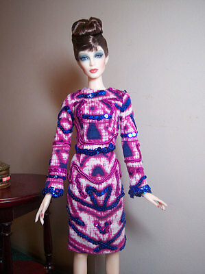 Jamieshow -Tulabelle - Printed Knit Dress with Sequins & Soutache from Katz Meow