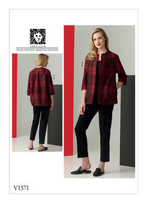 Vogue Sewing Pattern 1571 Misses 14-22 Anne Klein Loose-Fit Jacket & Slim Pants