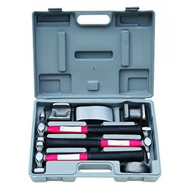 Hilka Tools 12750007 Pro Craft Panel Beating Kit, Silver, Set Of 7 Piece - Body