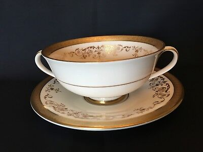 Royal Doulton Belmont H4991 Cream Soup Coupe / Cup And Saucer