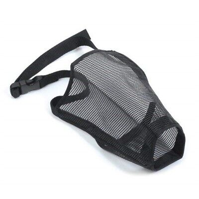 Ancol Dog Mesh Muzzle Size 3 20x15cm - Black Nylon Soft