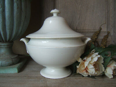 ANTIQUE FRENCH SOUP TUREEN from Vieillard Johnston BORDEAUX dating from 1840