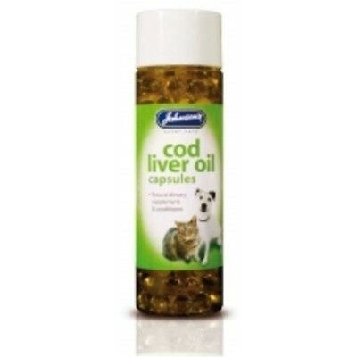 Johnsons Veterinary Products Cod Liver Capsules, 170 Capsules - Dog Oil Cat