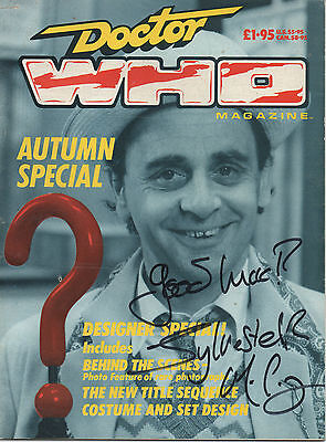 DR WHO personally signed 1987 autumn special comic - SYLVESTER MCCOY