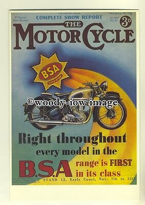 ad0044 - Motorcycle Magazine Cover , BSA - modern advert postcard