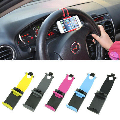 Universal Car Auto Steering Wheel Cell Phone Bracket Clip Holder for iPhone GPS