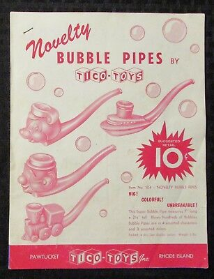 1962 TICO TOYS 20pg Catalog & Order Form VG/FN 5.0 Bubble Pipes