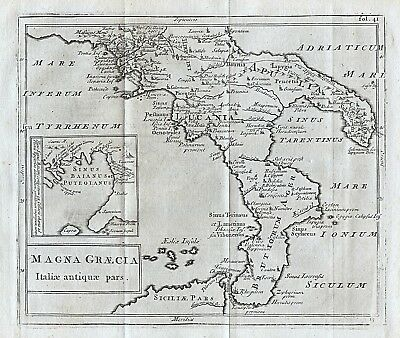 1779 Ancient Italy Southern Antique Map Cellarius