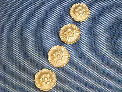 4 Antique french Bronze Brass Plaques Ornaments Cover plates
