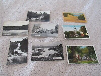 Lot 8 Vintage Picture Postcards-Maryland-Annapolis-Oakland-RPPC-Linen-Scenic
