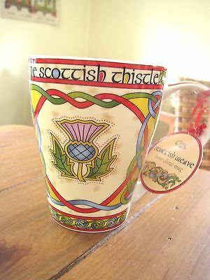 Scottish Thistle Clara Irish Weave, Bone China Cup or Mug