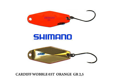 CARDIFF WOBBLE SWIMMER  SPOON  GR 2,5 col.02T GOLD RED  TROUT AREA SHIMANO JAPAN