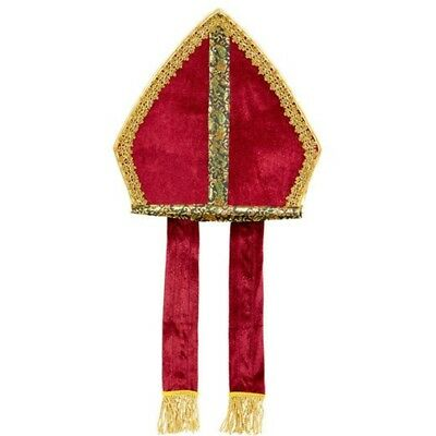 Mitre Pour Accessoire De Déguisement - Hat Bishop Pope Priest Father Holy Fancy