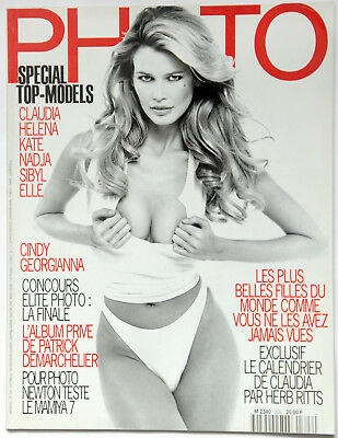 Rare vintage French Photo Magazine 1995 Claudia Schiffer Special Top Models Nude