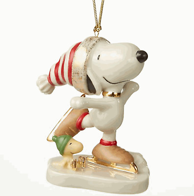 Lenox 2018 Snoopy Ice Skating Ornament