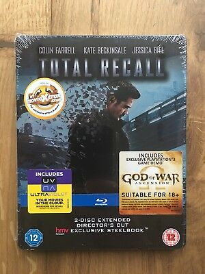 Total Recall 2 Blu-Ray Disc Steelbook HMV Exclusive New & Sealed Director's Cut
