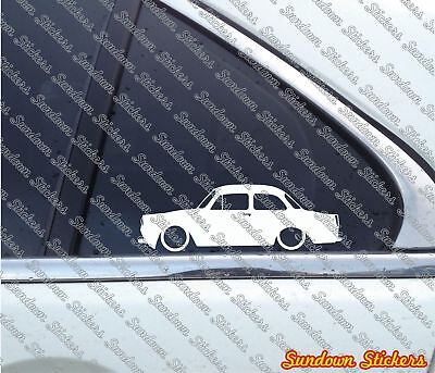 2x Lowered stickers aufkleber -for Volkswagen VW Type 3 typ 3 limousine oldtimer