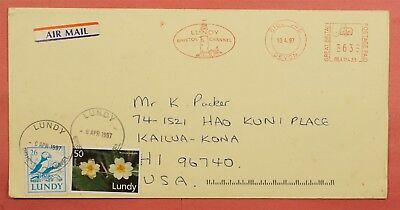 1997 Lundy Island Cover To Usa