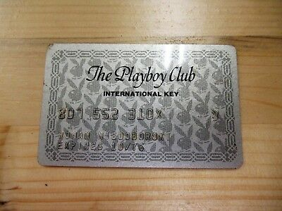 Vintage Playboy Club Chicago Charge Card International Key Card 1970's History