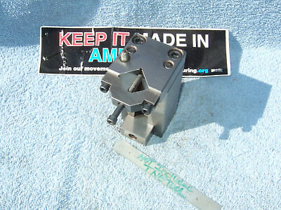 V-BLOCK FIXTURE with CLAMP N STOP USED TOOLMAKER MACHINIST SURFACE GRIND FIXTURE